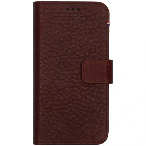 2 in 1 Leather Detachable Wallet voor de iPhone 12 Mini - Bruin