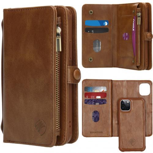 2-in-1 Wallet Booktype voor de iPhone 12 5.4 inch - Bruin