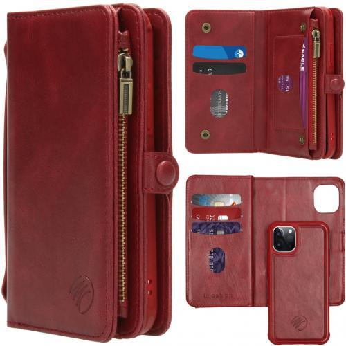 2-in-1 Wallet Booktype voor de iPhone 12 5.4 inch - Rood