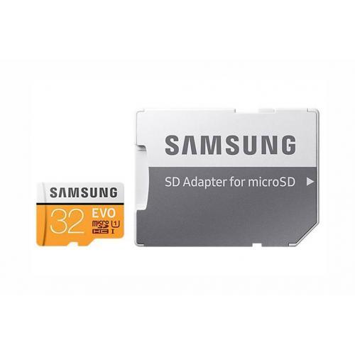 32GB EVO microSDHC geheugenkaart klasse 10 + adapter