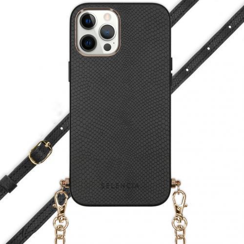 Aina Slang Hoesje met koord voor de iPhone 12 Pro Max - Zwart