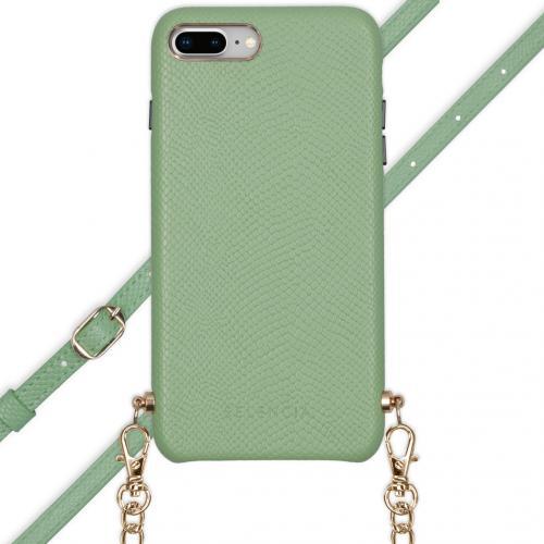 Aina Slang Hoesje met koord voor de iPhone 8 Plus / 7 Plus - Groen