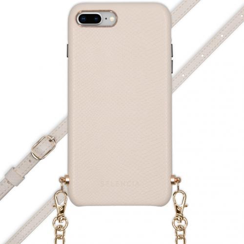 Aina Slang Hoesje met koord voor de iPhone 8 Plus / 7 Plus - Wit