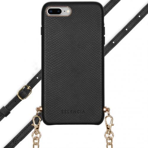 Aina Slang Hoesje met koord voor de iPhone 8 Plus / 7 Plus - Zwart