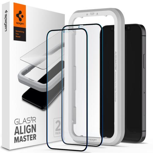 AlignMaster Full Cover Screenprotector 2 Pack voor de iPhone 12 Mini
