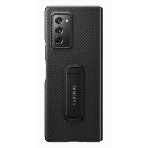Aramid Standing Backcover voor de Galaxy Z Fold2 - Zwart