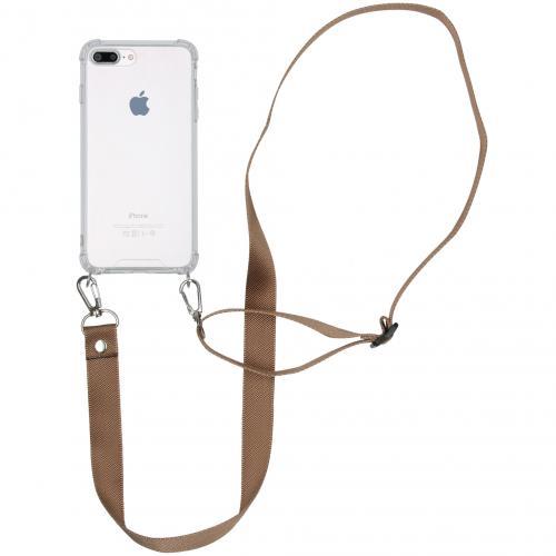 Backcover met koord - Nylon voor de iPhone 8 Plus / 7 Plus - Beige