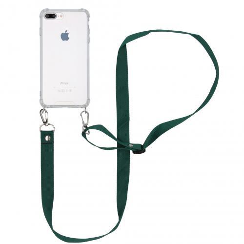 Backcover met koord - Nylon voor de iPhone 8 Plus / 7 Plus - Groen