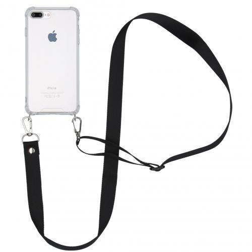 Backcover met koord - Nylon voor de iPhone 8 Plus / 7 Plus - Zwart