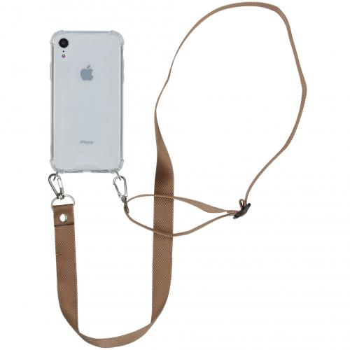 Backcover met koord - Nylon voor de iPhone Xr - Beige