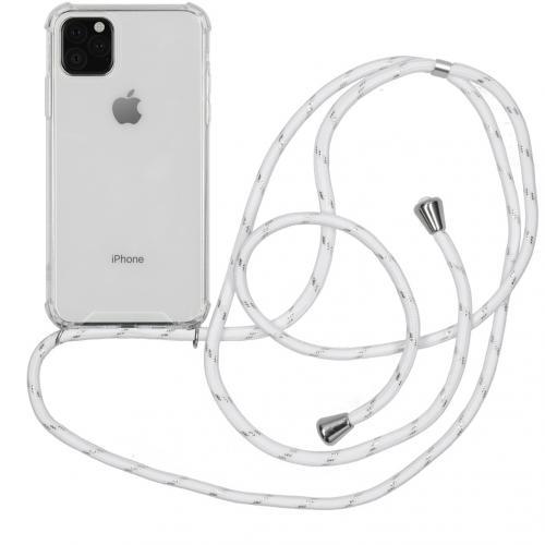 Backcover met koord voor de iPhone 11 Pro Max - Wit Zilver