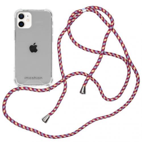 Backcover met koord voor de iPhone 12 Mini - Paars