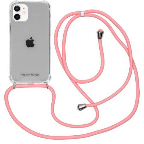 Backcover met koord voor de iPhone 12 Mini - Roze