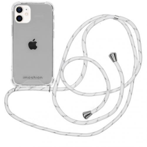 Backcover met koord voor de iPhone 12 Mini - White / Silver