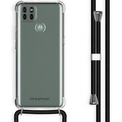Backcover met koord voor de Motorola Moto G9 Power - Zwart