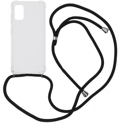 Backcover met koord voor de Samsung Galaxy A41 - Zwart