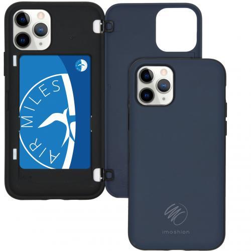 Backcover met pashouder voor de iPhone 11 Pro - Donkerblauw