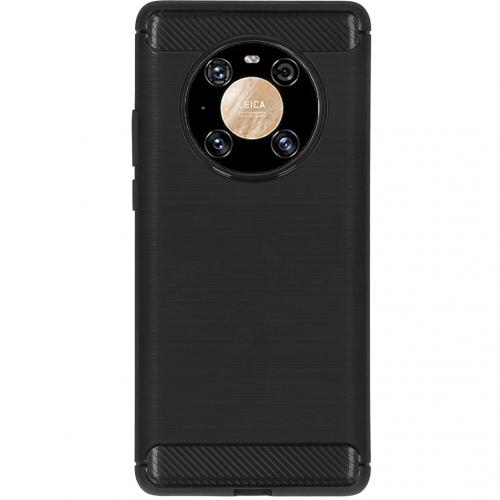 Brushed Backcover voor de Huawei Mate 40 Pro - Zwart