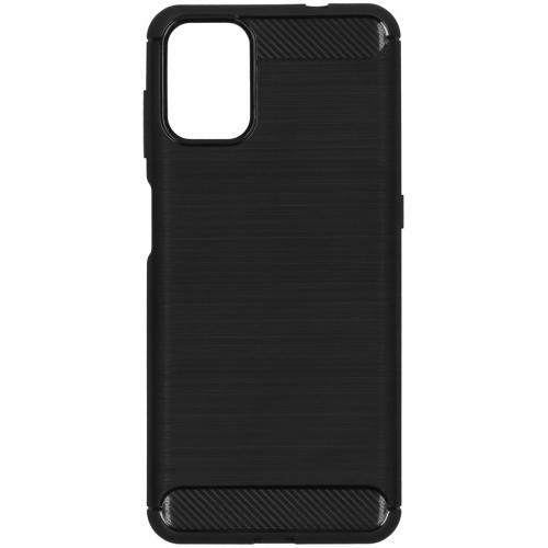 Brushed Backcover voor de Motorola Moto G9 Plus - Zwart