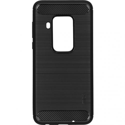 Brushed Backcover voor de Motorola One Zoom - Zwart