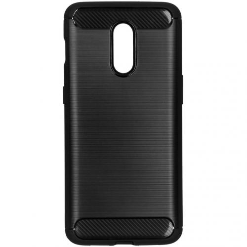 Brushed Backcover voor de OnePlus 7 - Zwart