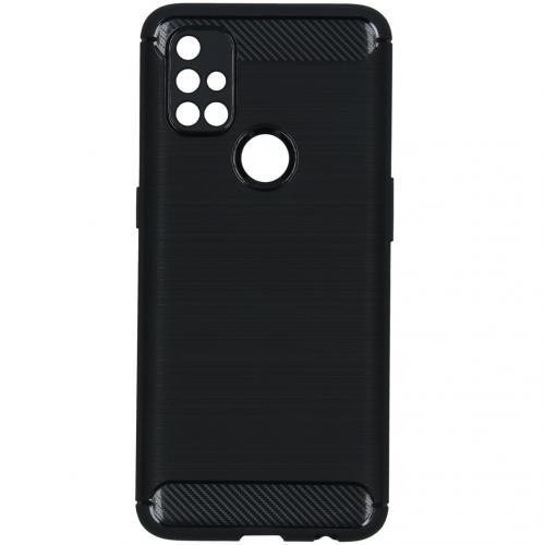Brushed Backcover voor de OnePlus Nord N10 5G - Zwart