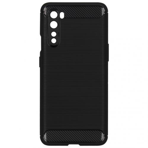 Brushed Backcover voor de OnePlus Nord - Zwart