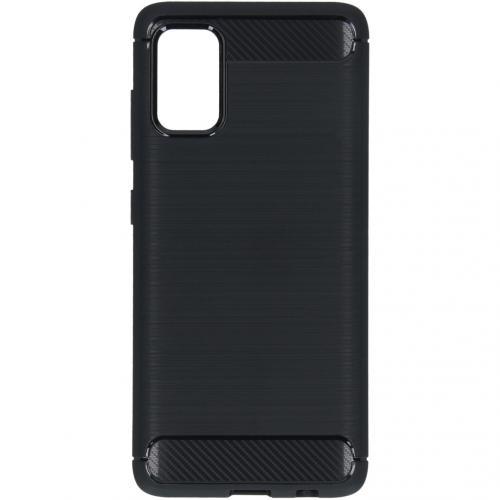 Brushed Backcover voor de Samsung Galaxy A41 - Zwart