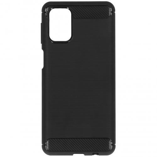 Brushed Backcover voor de Samsung Galaxy M31s - Zwart