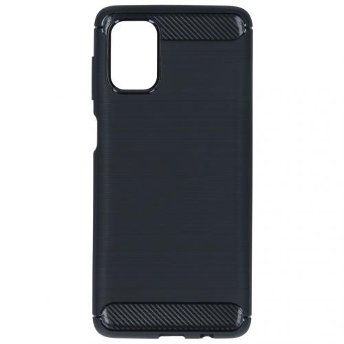 Brushed Backcover voor de Samsung Galaxy M51 - Zwart