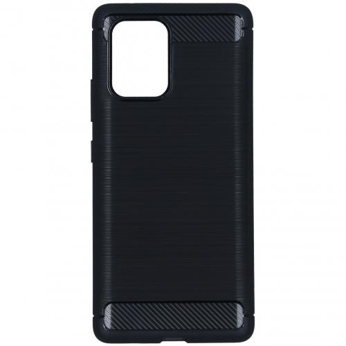 Brushed Backcover voor de Samsung Galaxy S10 Lite - Zwart