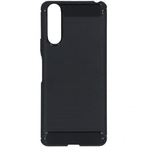 Brushed Backcover voor de Sony Xperia 10 II - Zwart