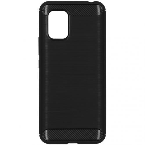 Brushed Backcover voor de Xiaomi Mi 10 Lite - Zwart