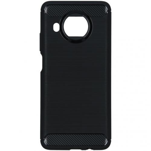 Brushed Backcover voor de Xiaomi Mi 10T Lite - Zwart