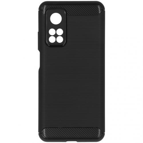 Brushed Backcover voor de Xiaomi Mi 10T (Pro) - Zwart