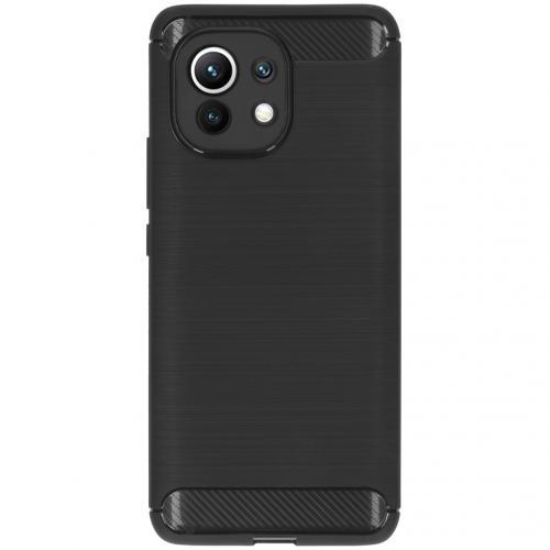 Brushed Backcover voor de Xiaomi Mi 11 - Zwart