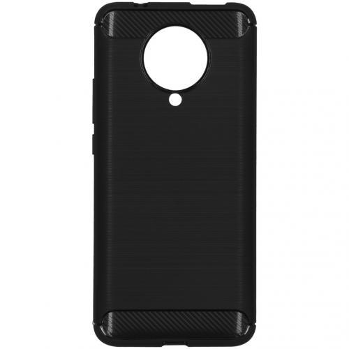 Brushed Backcover voor de Xiaomi Poco F2 Pro - Zwart