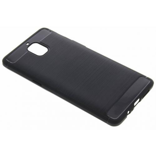 Brushed Backcover voor OnePlus 3 / 3T - Zwart