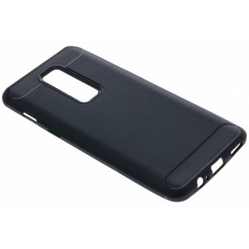 Brushed Backcover voor OnePlus 6 - Zwart