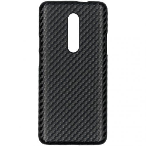 Carbon Hardcase Backcover voor de OnePlus 7 Pro - Zwart