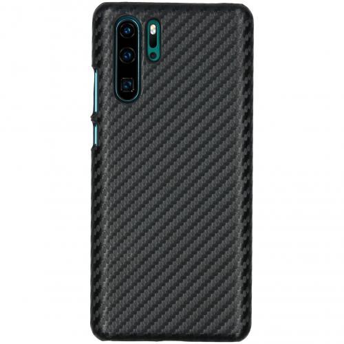 Carbon Hardcase Backcover voor Huawei P30 Pro - Zwart