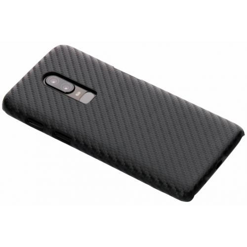 Carbon Hardcase Backcover voor OnePlus 6 - Zwart