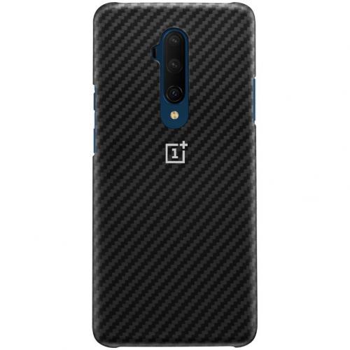Carbon Protective Backcover voor de OnePlus 7T Pro - Zwart