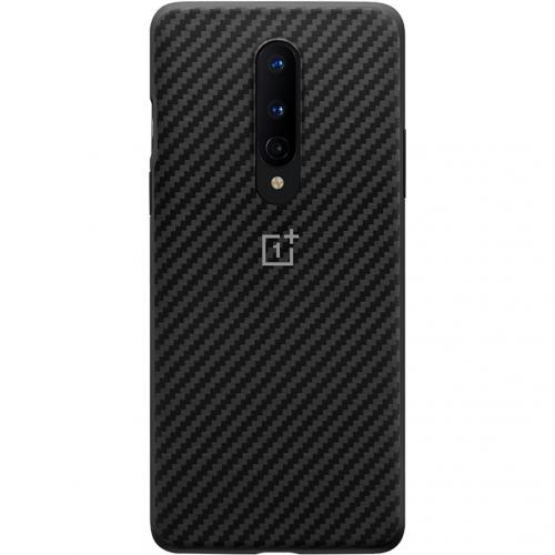 Carbon Protective Backcover voor de OnePlus 8 - Zwart