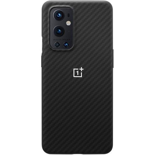 Carbon Protective Backcover voor de OnePlus 9 Pro - Zwart