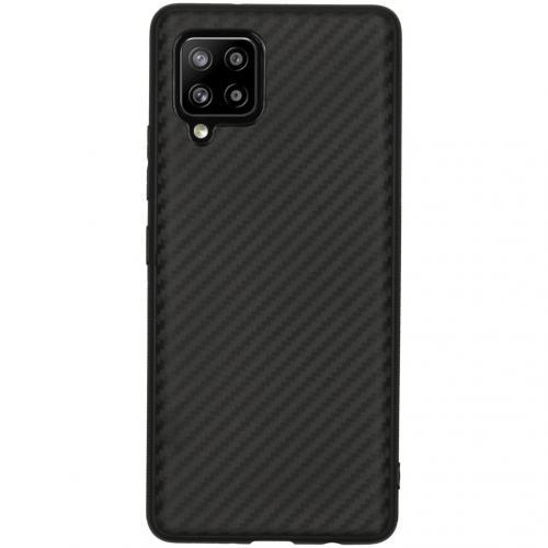 Carbon Softcase Backcover voor de Samsung Galaxy A42 - Zwart
