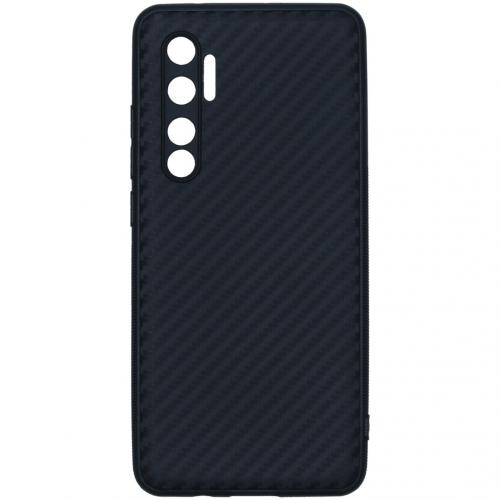 Carbon Softcase Backcover voor de Xiaomi Mi Note 10 Lite - Zwart
