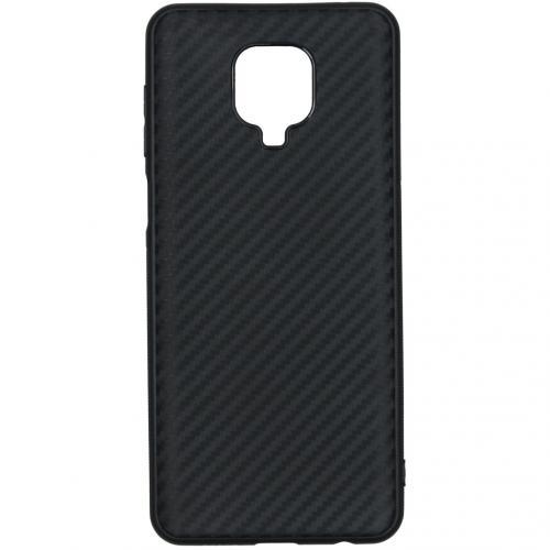 Carbon Softcase Backcover voor de Xiaomi Redmi Note 9 Pro / 9S - Zwart
