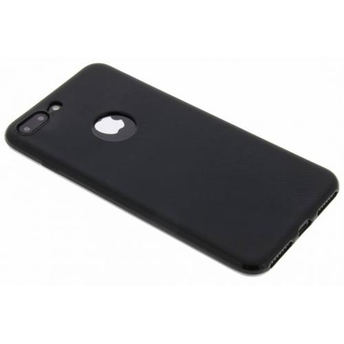 Carbon Softcase Backcover voor iPhone 8 Plus / 7 Plus - Zwart