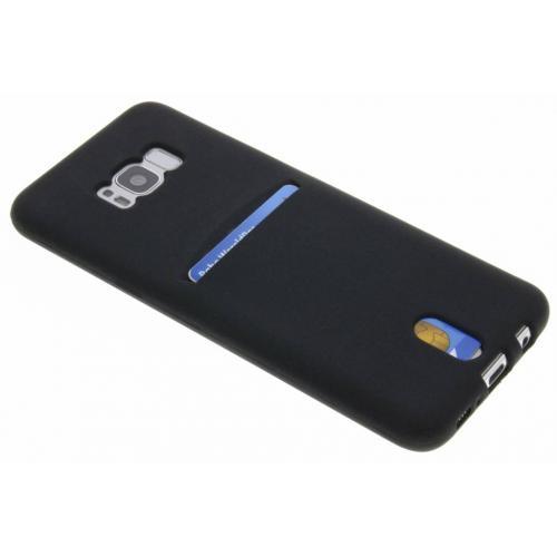 Card Backcover voor Samsung Galaxy S8 Plus - Zwart